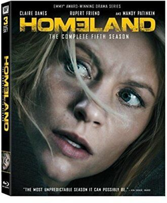 Homeland: Complete Season 5 - BRAND NEW SEALED Blu-ray 3-Disc Set  Claire Danes