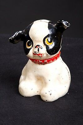 """Vintage Cast Iron Hubley FIDO Puppy Dog Coin Bank - 5"""" High"""