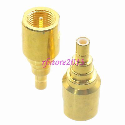 1pce Adapter Connector FME male plug to SMB male plug straight for Radio