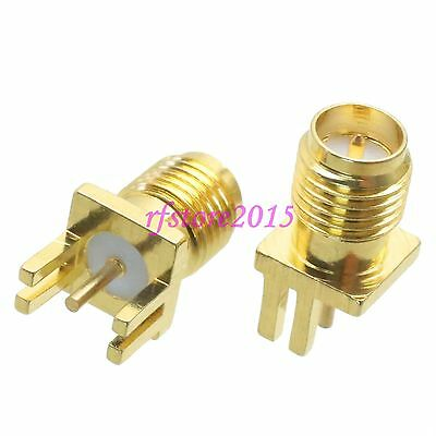 1pce Connector RP-SMA female 0.8~1.0mm solder PCB clip edge mount RF COAXIAL