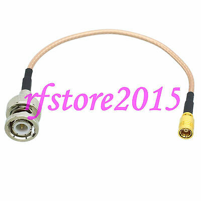Cable RG316 6inch BNC male plug to SMB female jack straight RF Pigtail Jumper