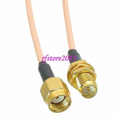 Cable RG316 RP-SMA male jack to RPSMA female plug bulkhead RF Pigtail Jumper