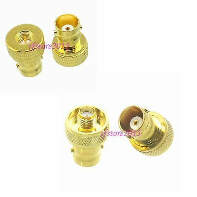 10pcs Adapter Connector BNC to SMA Gold Plated for Radio Antenna