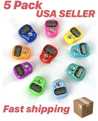 5 PACK Digital Electronic LCD Tasbih Tasbeeh Finger Tally Counter Zikr Islam