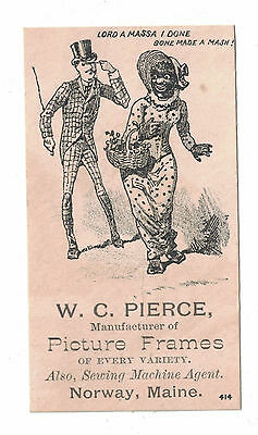 Black Americana Victorian Trade Card Picture Frames Norway, Maine