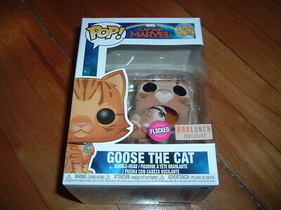 Funko Pop! Goose The Cat #426~ Box Lunch Exclusive~ New~ Mint~ Marvel Series~