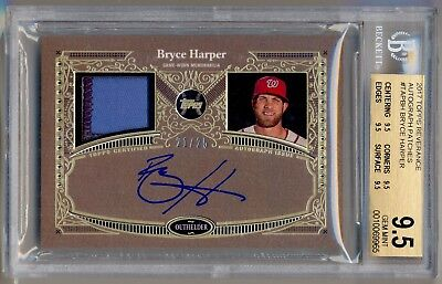 2017 Topps Reverance Autograph Patches BRYCE HARPER Patch Auto 21/25 BGS 9.5/10