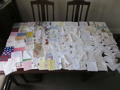 Huge Lot Of 130 Vintage Ladies Handkerchiefs ~ Floral Embroidered Lace And More