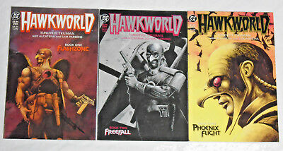 HAWKWORLD #1-3 * DC Comics Lot * 3 comics Book 1 2 3 Hawkman 1989 Truman