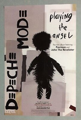 Promo 11x17 Inches Poster for DEPECHE MODE Playing the Angel 2005 SIRE RECORDS