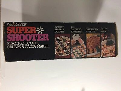 Complete Wearever Super Shooter 70001 Electric Cookie Press Canape Candy Maker