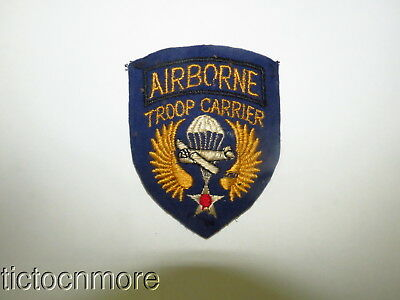 Orig Wwii Us Army Air Force Usaaf Airborne Troop Carrier Felt Patch