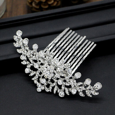 Bridal Wedding Flower Women Hair Comb Headpiece D4A8