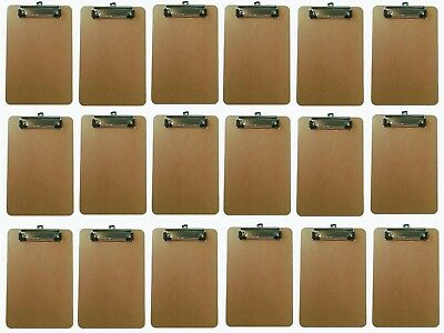 Small Clipboards 18 Pack | 6x9 inch Mini Clipboards | Heavy Duty Mini Clipboards