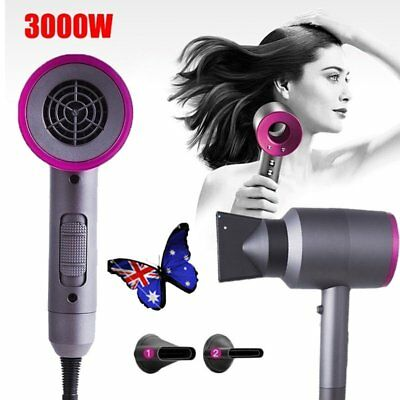 Professional 3000W Hairdressing Salon Electric Hair Dryer Negative ion 2 Nozzles