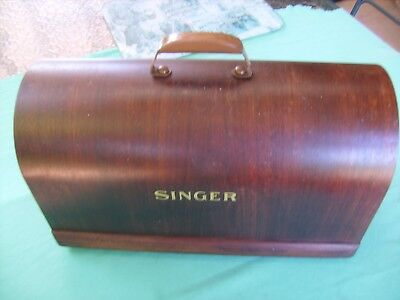 "Antique""SINGER""Sewing Machine WOODEN COVER TOP  Original Condition, late Forties"