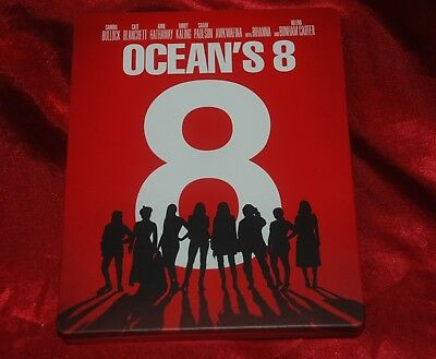 OCEANS 8 Official US 4k UHD & Blu-ray Ed in limited exclusive STEELBOOK CASE