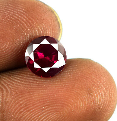 Mozambique Prience Cut Loose Gemstone Red Ruby Natural 1.90 Ct Certified E6751