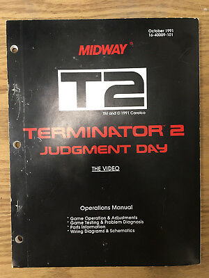 Midway Terminator 2 Judgement Day Arcade Manual