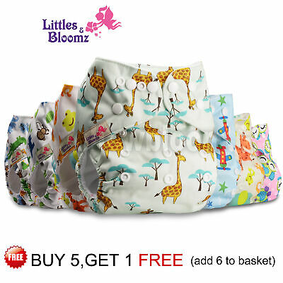 Baby Cloth Nappy Reusable Washable STANDARD Popper Adjustable Wrap Pocket Diaper