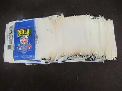 (372) 1986 Donruss Baseball Wax Pack Wrapper Lot White And Black Line M1836
