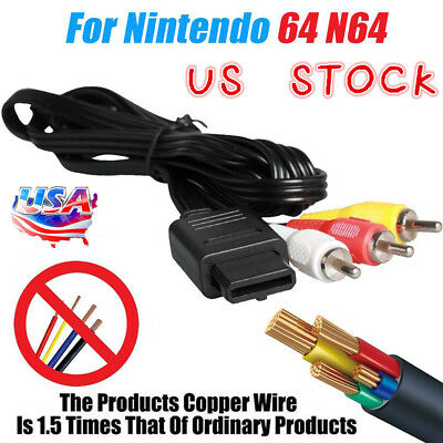 AV Audio Video Adapter Cable Cord for SNES Super NES Nintendo N64 Game Cube 6FT