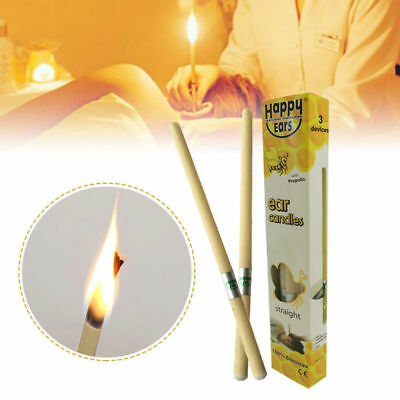 2X/Set Hopi Ear Candling Candel Natural Beeswax Excellent Quality Wax Candles AU