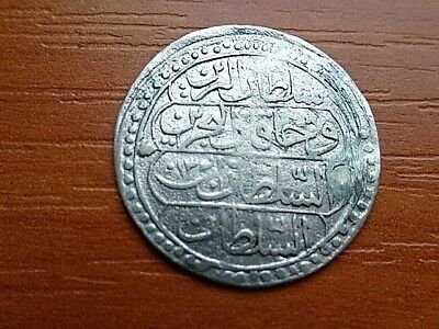 Authentic Islamic Ottoman Silver Coin 10 Para 1223/13 AH Mahmud II 1808-1839 AD.