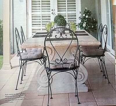 FRENCH garden antique silver black ARMCHAIR WROUGHT IRON  QUALITY NEW