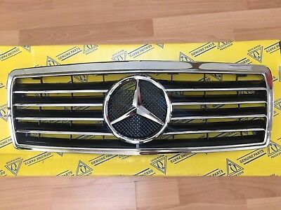Fit For Mercedes Benz W202 S202 1993-2000 C-class  Chrome Front Sport Grill