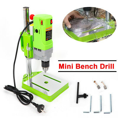 Mini Portable Press Workbench Wood Drilling Machine Iron Wood for DIY 710W NEW