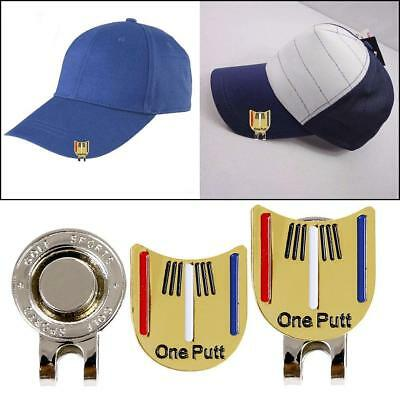 Golf Ball Marker Putting Putt Alignment Aiming Tool With Magnetic Hats Clip ·UK 9e277460b35e