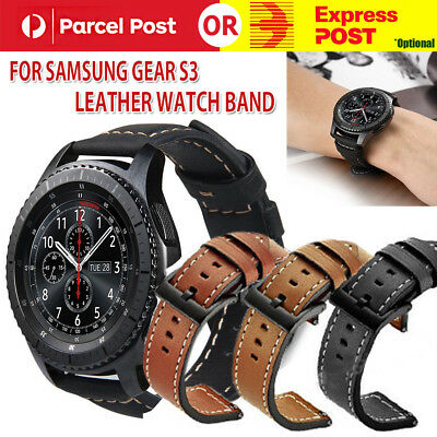 Luxury Leather Crocodile Strap Band For Samsung Gear S3 Frontier / Classic 22mm