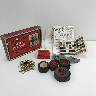 NULLI SECUNDUS PASSE PARTOUT Vintage Picture Framing Outfit Framing Kit 4328