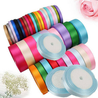 1 Roll 25 Yards Satin Ribbon Sewing Fabric Gifts Wrapping Wedding Party Decor