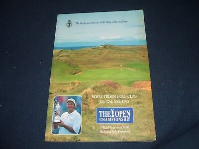 *Multi-Signed Incl Jack Nicklaus* 1997 Open Golf Championship Programme @ Troon