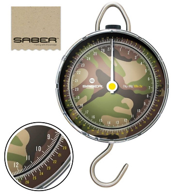 Saber Dpm Camo Specimen Fishing Scales 27K Carp Fishing Dial Scales Pike Match