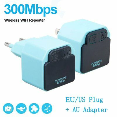300Mbps WiFi Repeater Wireless Signal Range Extender Booster Amplifier LOT T1