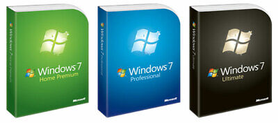 Microsoft Windows 7 Home Premium, Professional Ultimate 32/64bit SP1 Vollversion