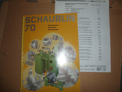 Schaublin 70 lathe manual and accessories..very clean condition