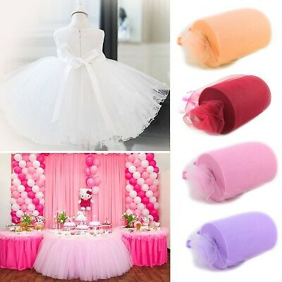 "TUTU TULLE ROLL  6"" Wide x 100yrds  Craft Fabric Soft 100% Nylon Netting Wedding"