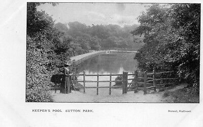 Keeper's Pool SUTTON PARK Sutton Coldfield - Original Postcard. Durant (2.95)