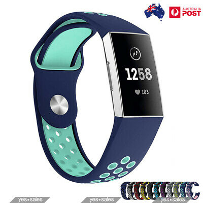 For Fitbit Charge 3 Fitness Silicone Band Wrist Bracelet Sport Band WristBand
