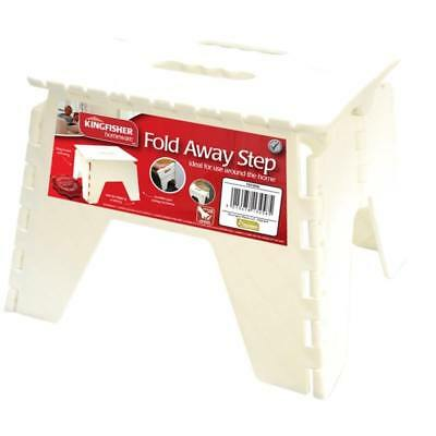 Heavy Fold-able Folding Step Stool Stable Storable Sturdy Ladder DIY Stool White