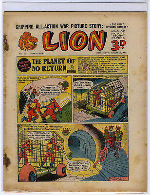 Lion 20th Aug 1955 (#183, mid-high grade) Captain Condor, Amazing Advs of Mr X