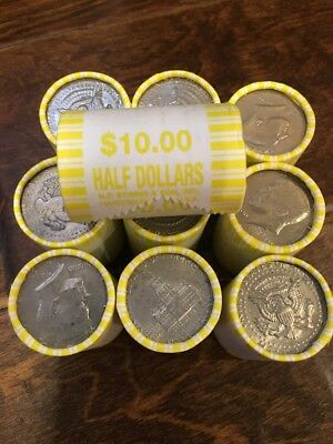 1 Unsearched Bank Roll of Kennedy Half Dollars- Possible Silver! $10 Face