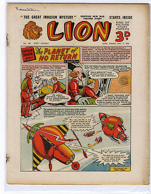 Lion 7th May 1955 (#168, very high grade) Captain Condor, Amazing Advs of Mr X