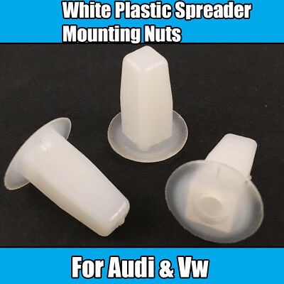 10x Clips For Audi 100 Coupe A8 VW Golf Passat Polo Spreader Mounting Nut White