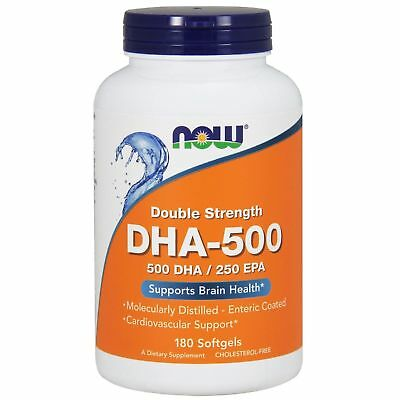 Now Foods DHA-500/EPA-250 Double Strength 180 Softgels