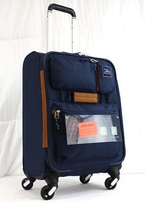 """Skyway Coupeville 20"""" Lightweight Expandable Spinner Carry On Suitcase Midnight"""